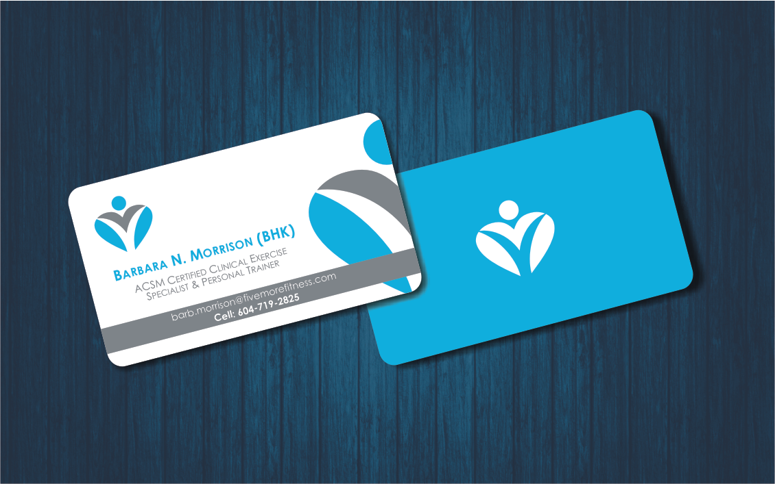 Modern upmarket personal trainer business card design for a business card design by 3ikeg for this project design 1083667 reheart Gallery