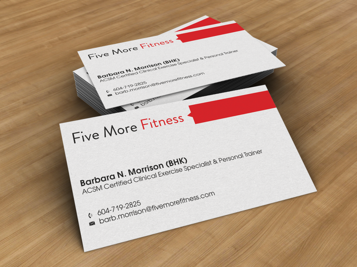 Modern upmarket personal trainer business card design for a business card design by hypdesign for this project design 1065849 reheart Gallery