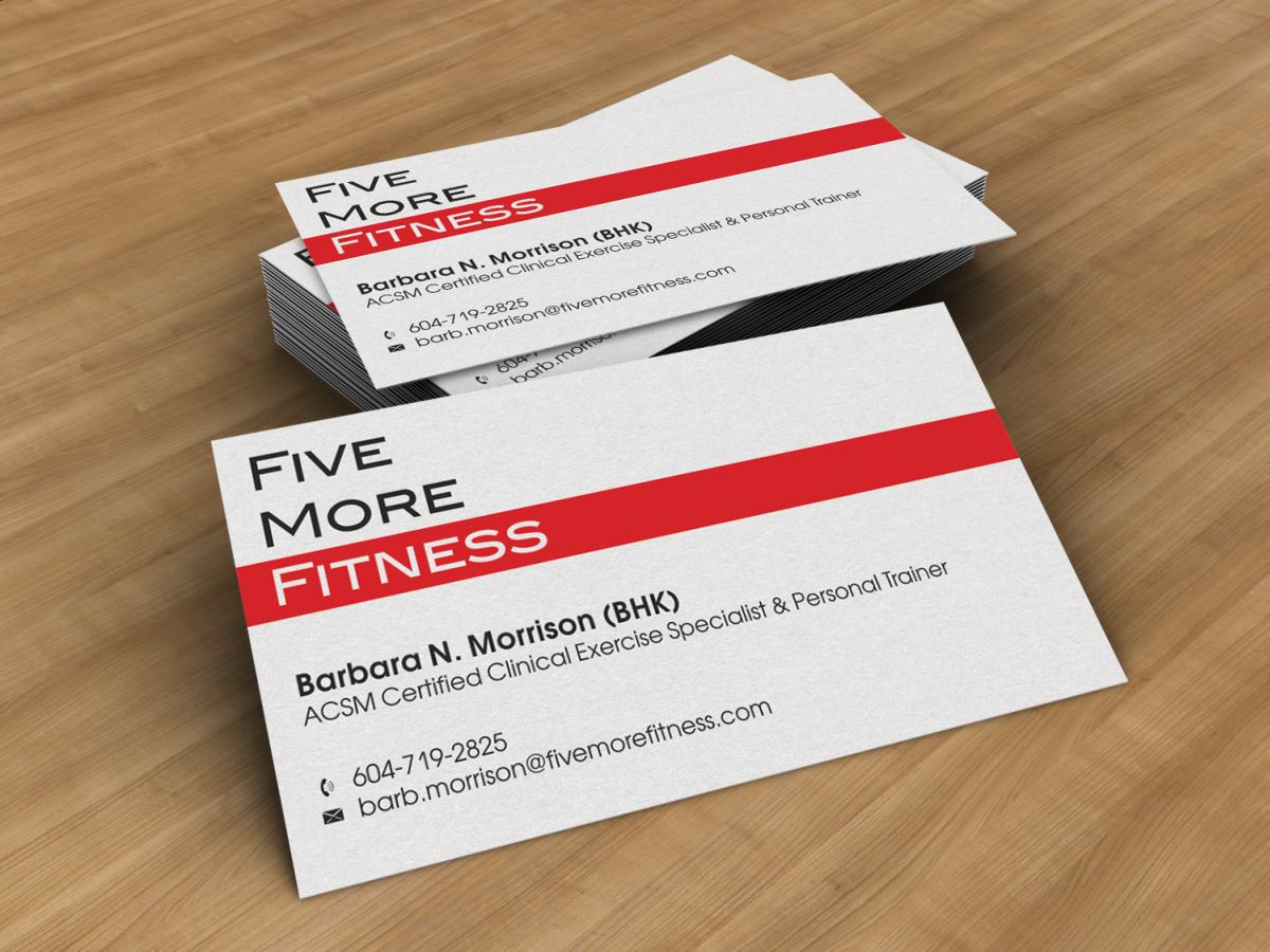 Modern upmarket personal trainer business card design for a business card design by hypdesign for this project design 1065850 reheart Gallery