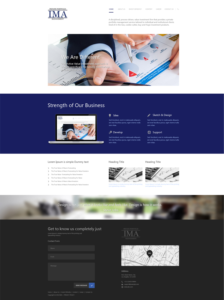 Investment Web Design For A Company By Aarsita Design 3999668