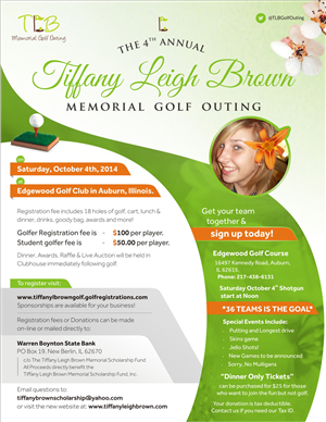 Flyer Design by Theziners - 2014 Golf Outing Flyer