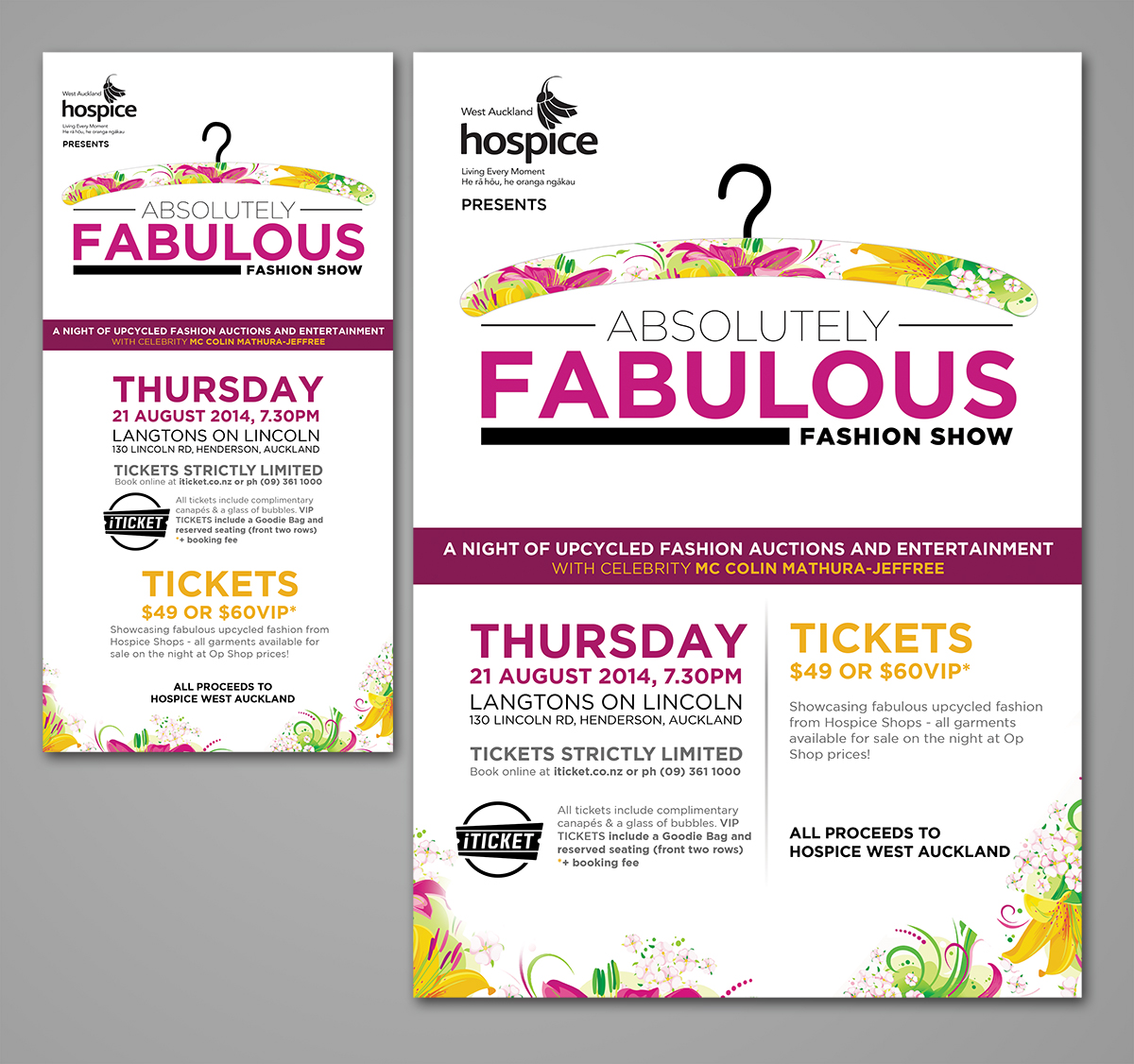 Poster design fee - Poster Design By Spreewell For Poster Flyer For Charity Fashion Show Design 3990432