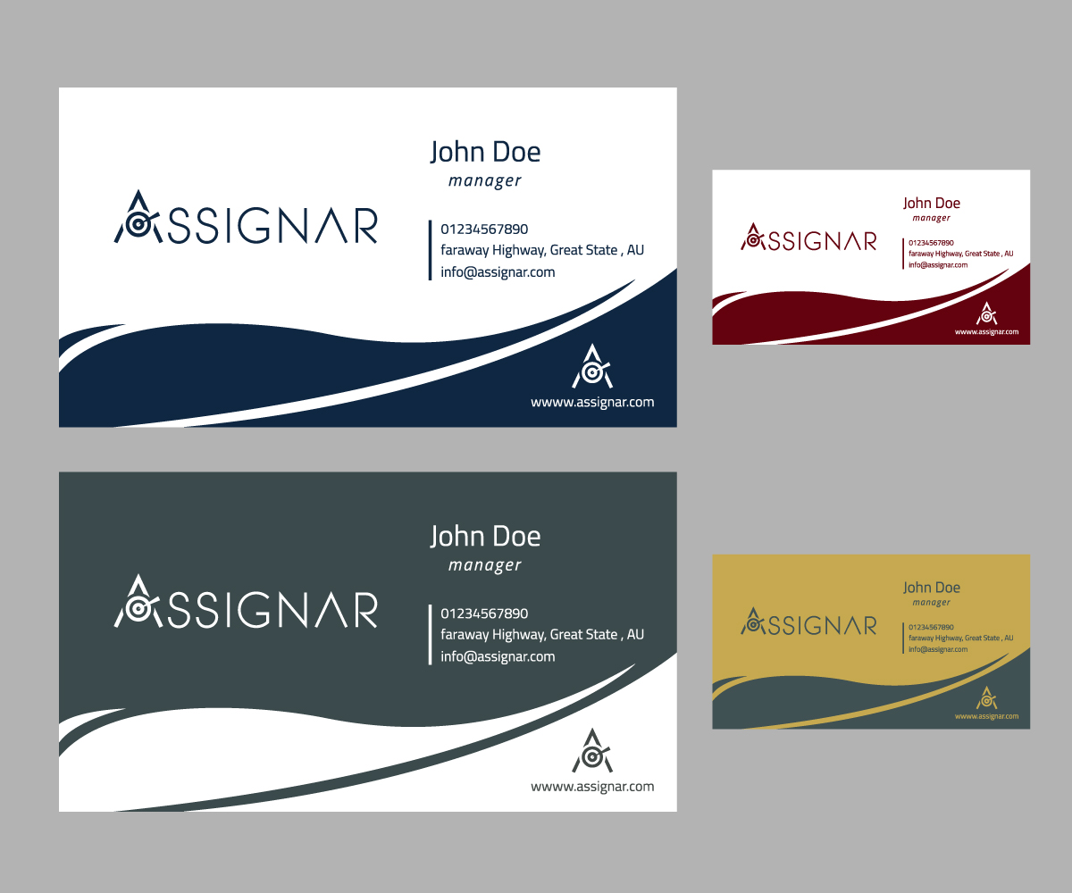 Modern, Upmarket, Software Business Card Design for a Company by ...