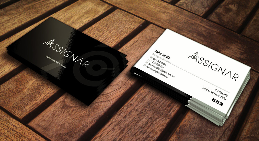 Modern Upmarket Software Business Card Design For A Company By Veeranath Design 3992535