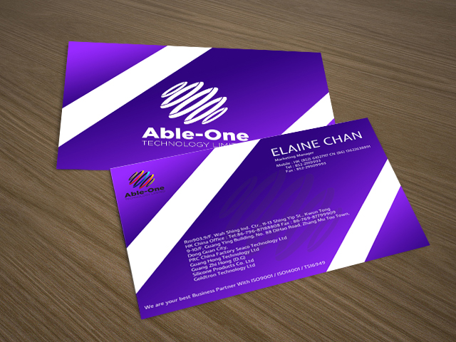 Manufacturer Name Card Design For A Company In Hong Kong 3975193