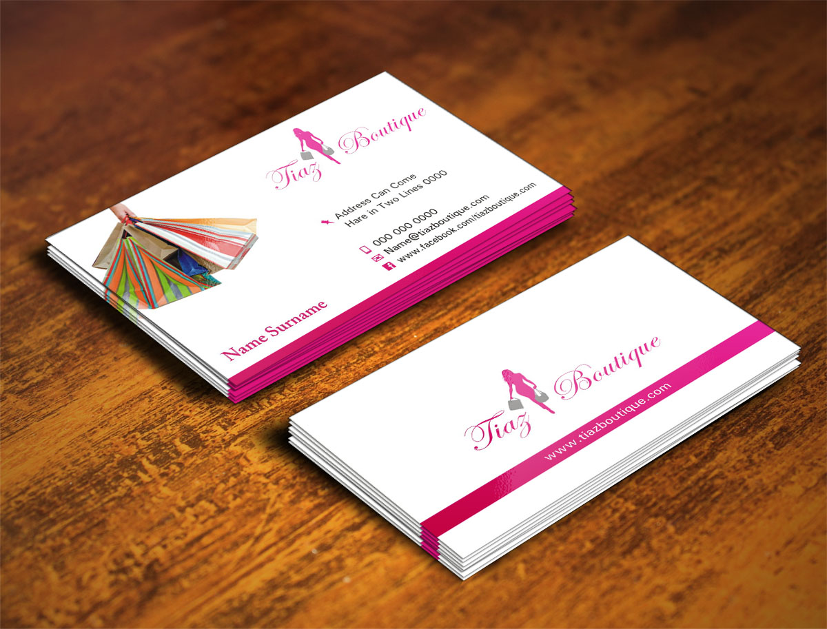 21 professional boutique business card designs for a boutique