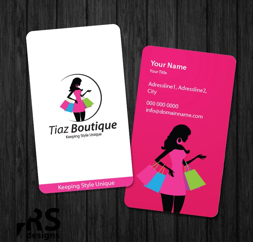 Business Card Design for Tiaz Boutique by RS designs | Design #3955981