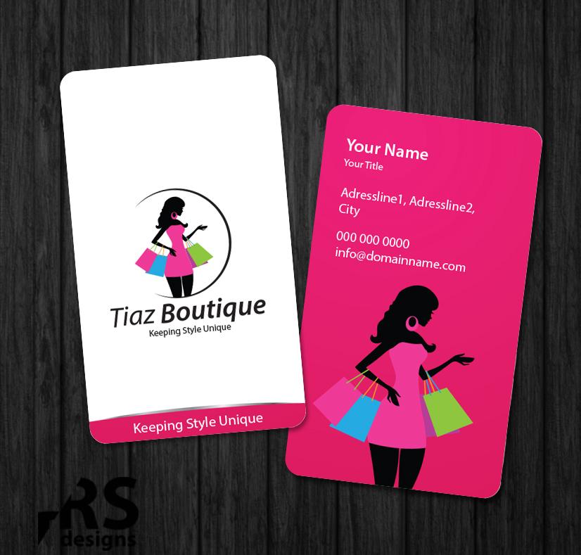 Business Card Design for Tiaz Boutique by RS designs | Design #3956015