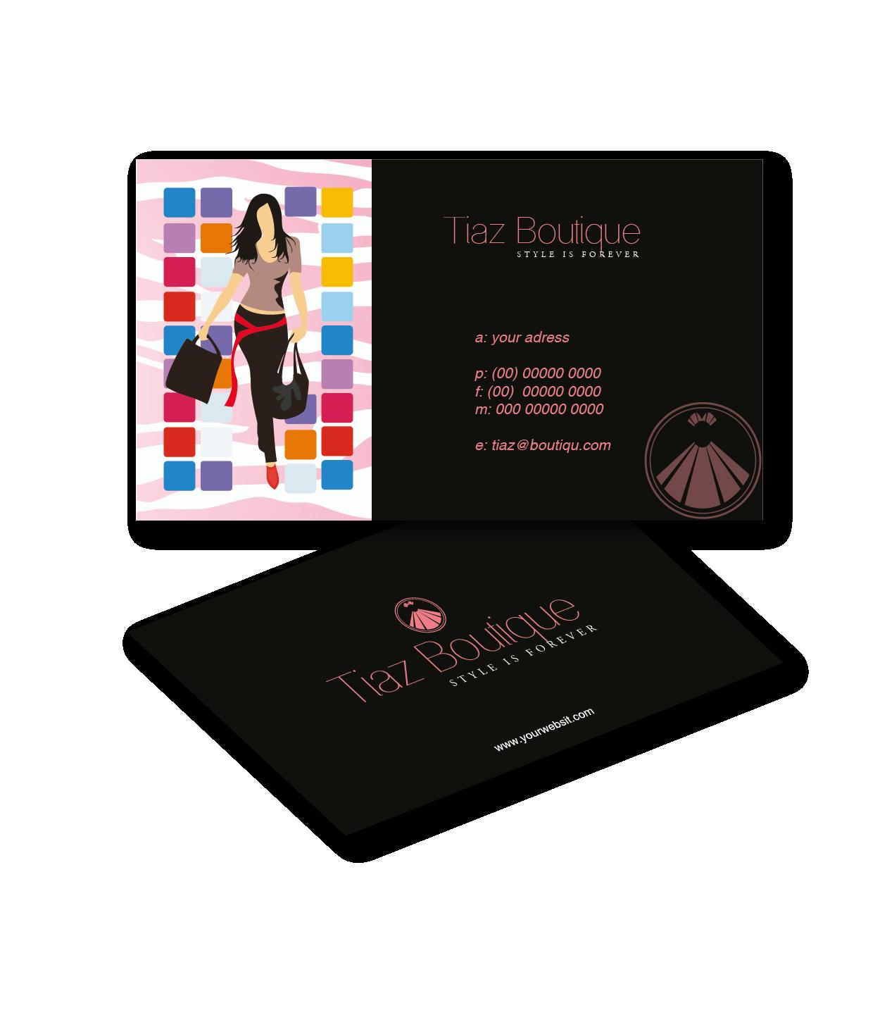 Boutique business card design for tiaz boutique by rk design 3958015 boutique business card design for tiaz boutique in united kingdom design 3958015 reheart Gallery