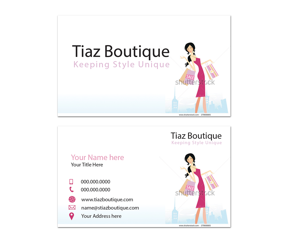 Business card design for tiaz boutique by sandaru design 3949266 business card design by sandaru for online fashion boutique needs new logo and business card design magicingreecefo Images