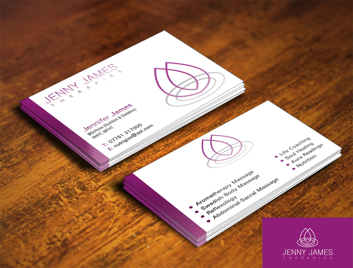 26 simple business card designs massage business card design business card design by poonam gupta for this project design 3993215 colourmoves