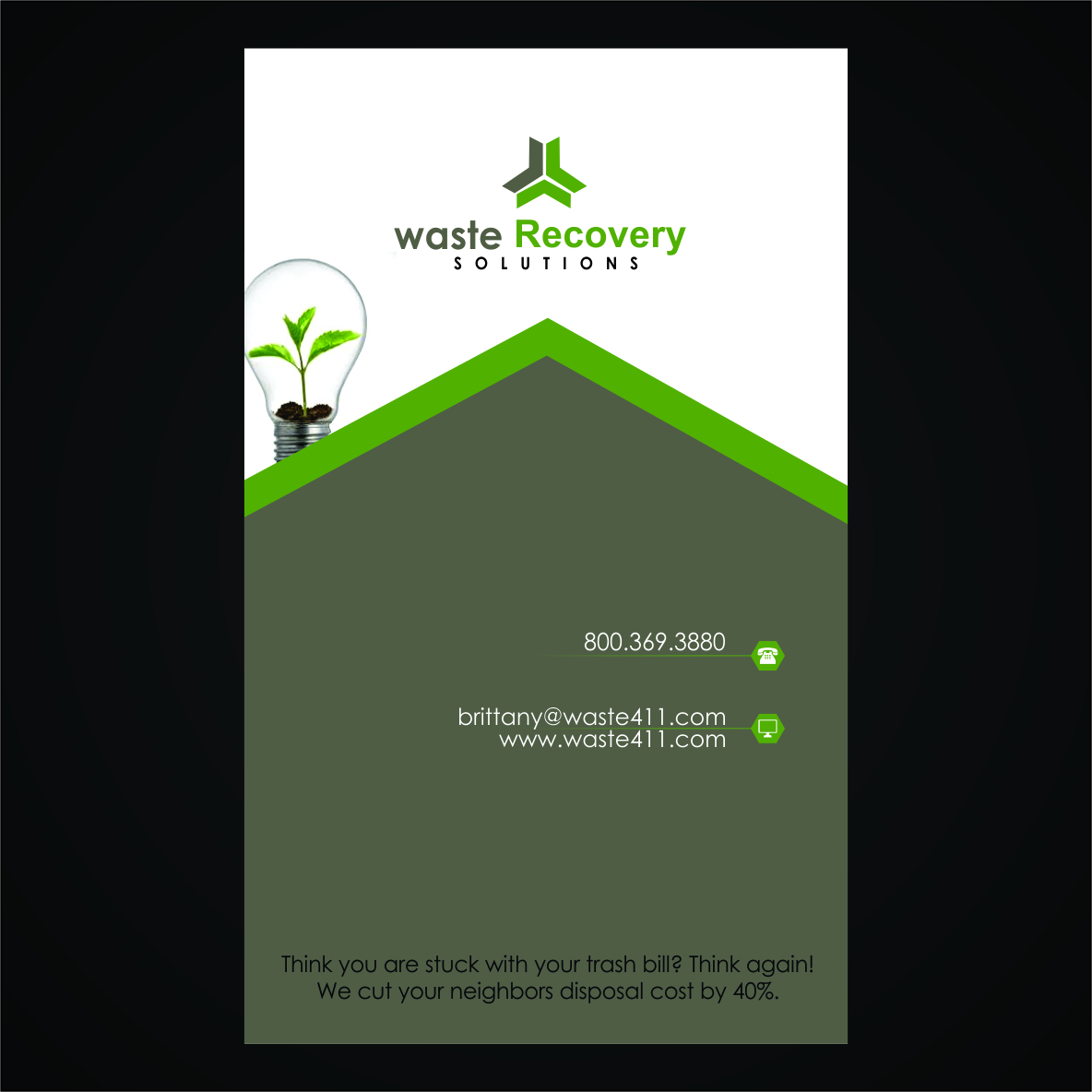 it company card design for waste recovery solutions by mikka luv