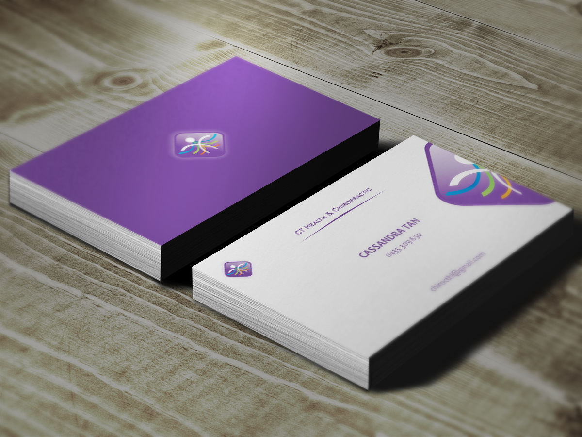 Modern, Colorful, Business Name Card Design for a Company by Little ...