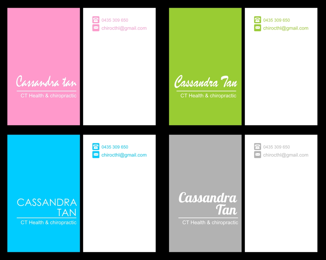 Modern, Colorful, Business Name Card Design for a Company by Dinasty ...