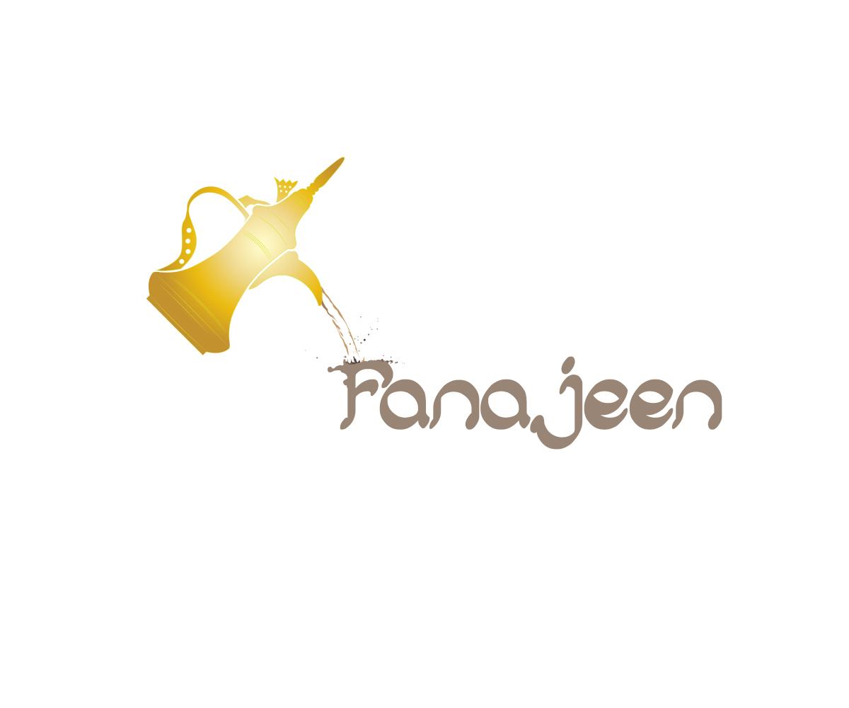 coffee shop logo design for fanajeen by martyn aston