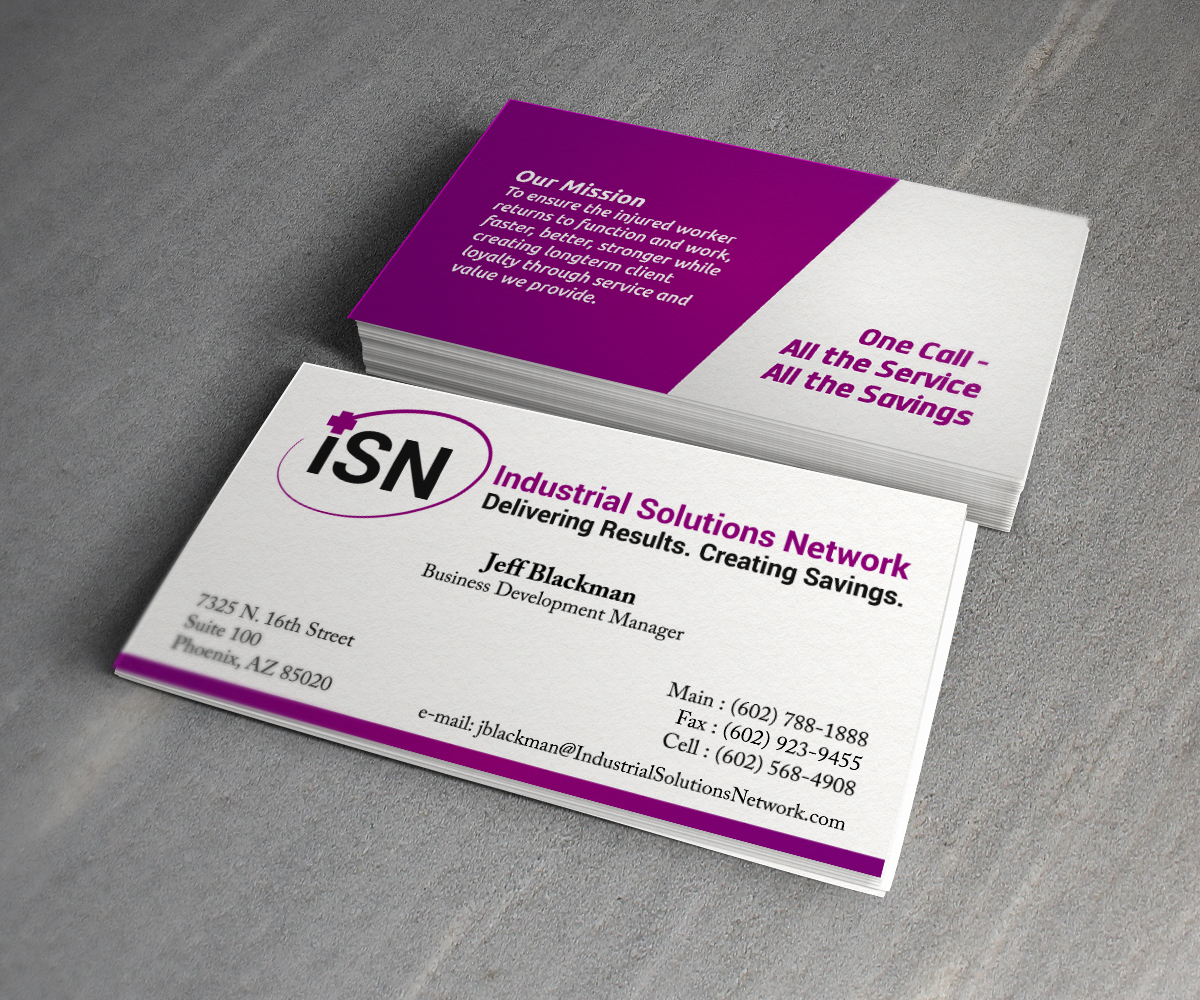 Business card design for laurel stoimenoff by ideaz2050 for Industrial design business card