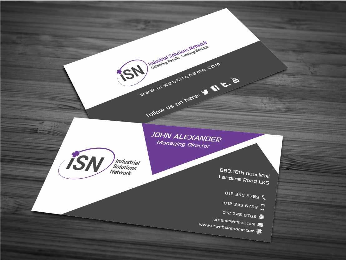 Printer Business Card Design for a Company by AwsomeD | Design #3961716