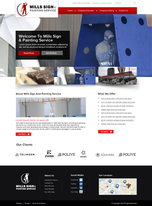 Construction company web design galleries for inspiration for Industrial design sites