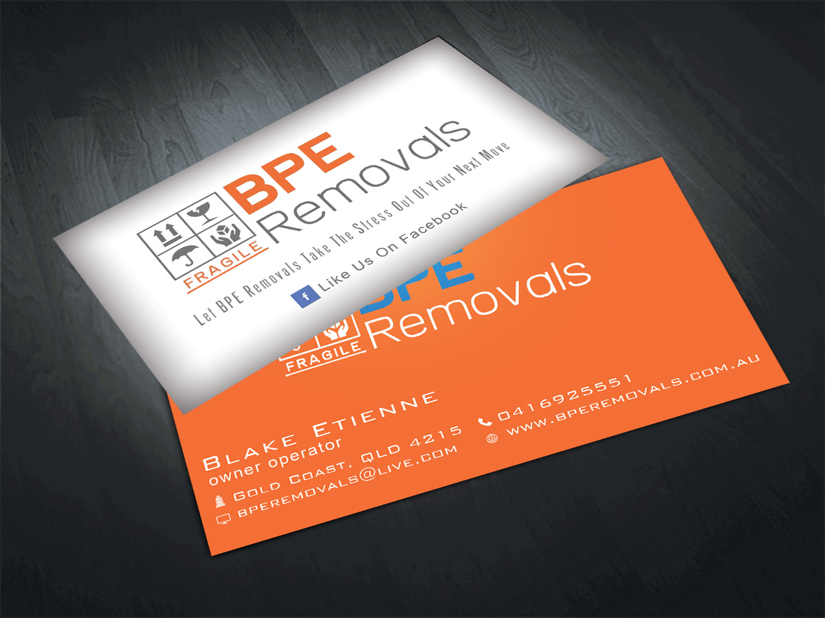 Business Business Card Design for BPE Removals by Riz\' | Design #3998210