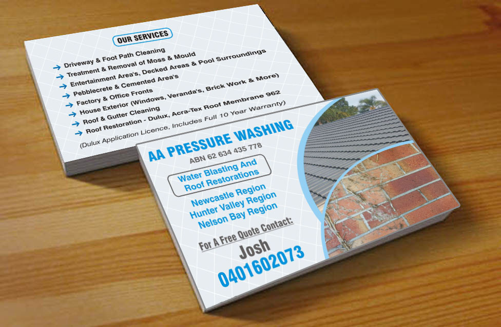 Business Card Design for AA Pressure Cleaning by Poonam Gupta ...