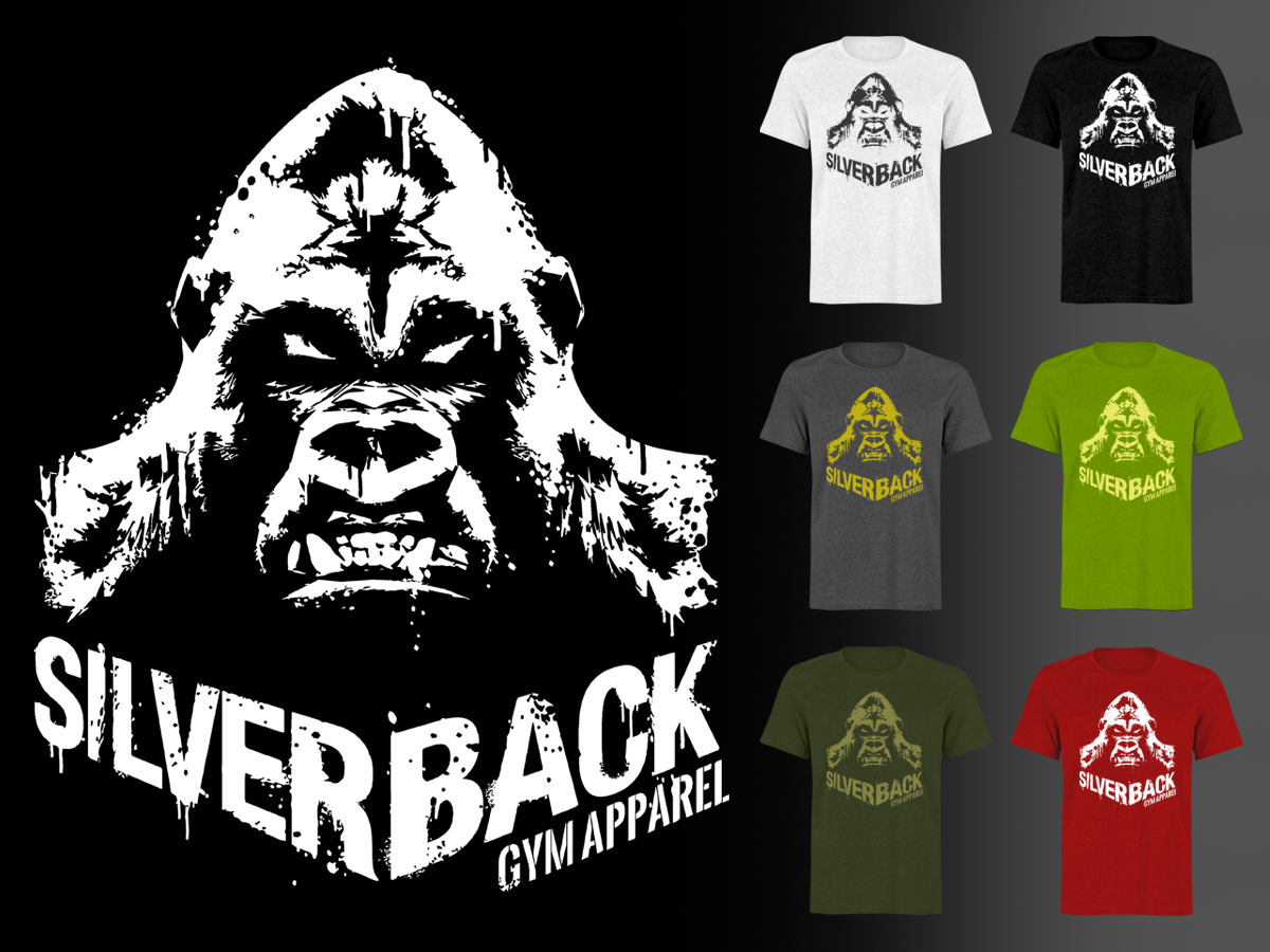 Design t shirts graphic - T Shirt Design For Silverback Gym Apparel By Stierney