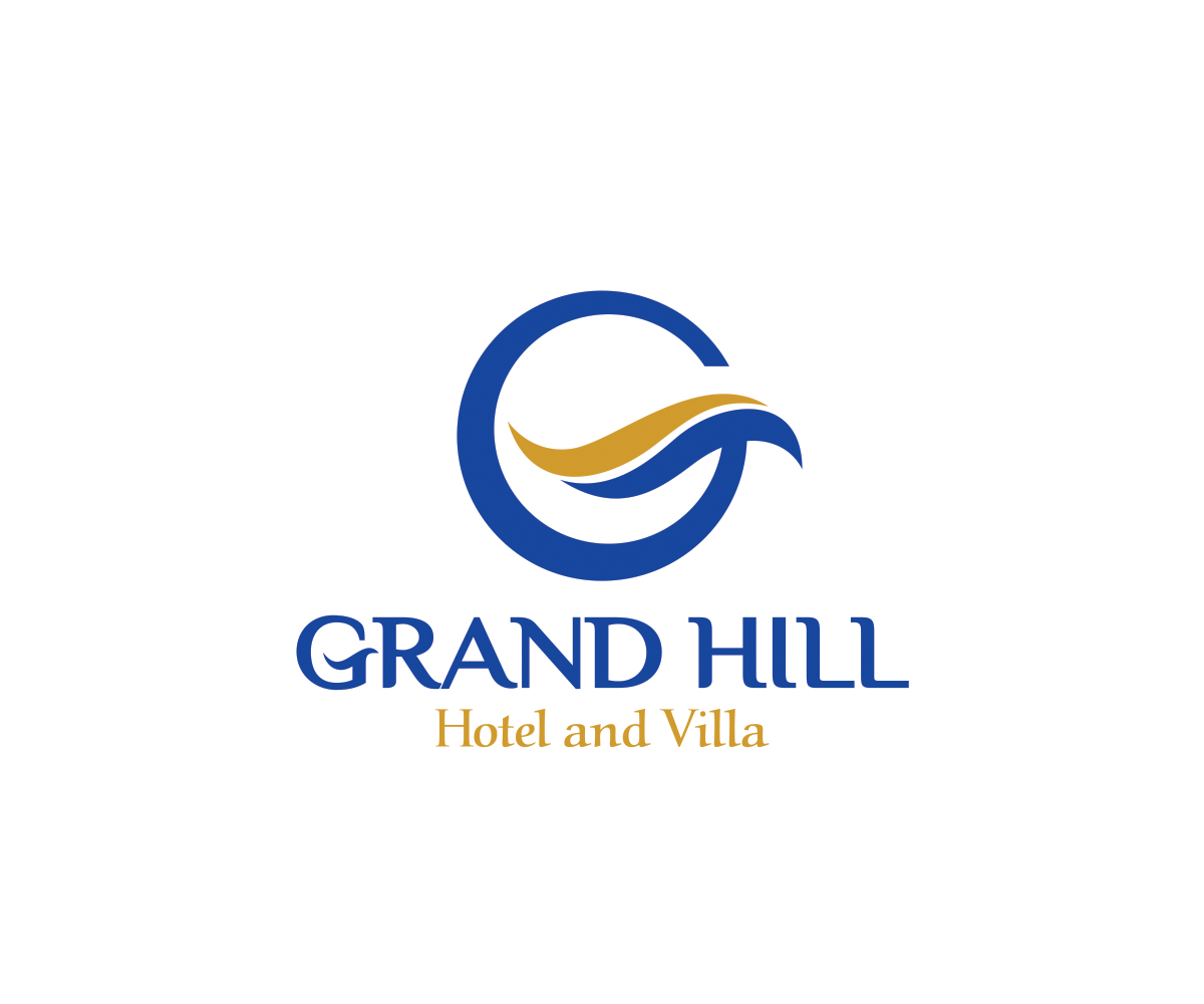 Hotel logo design for grand hill hotel and villa by chalid for Hotel logo design