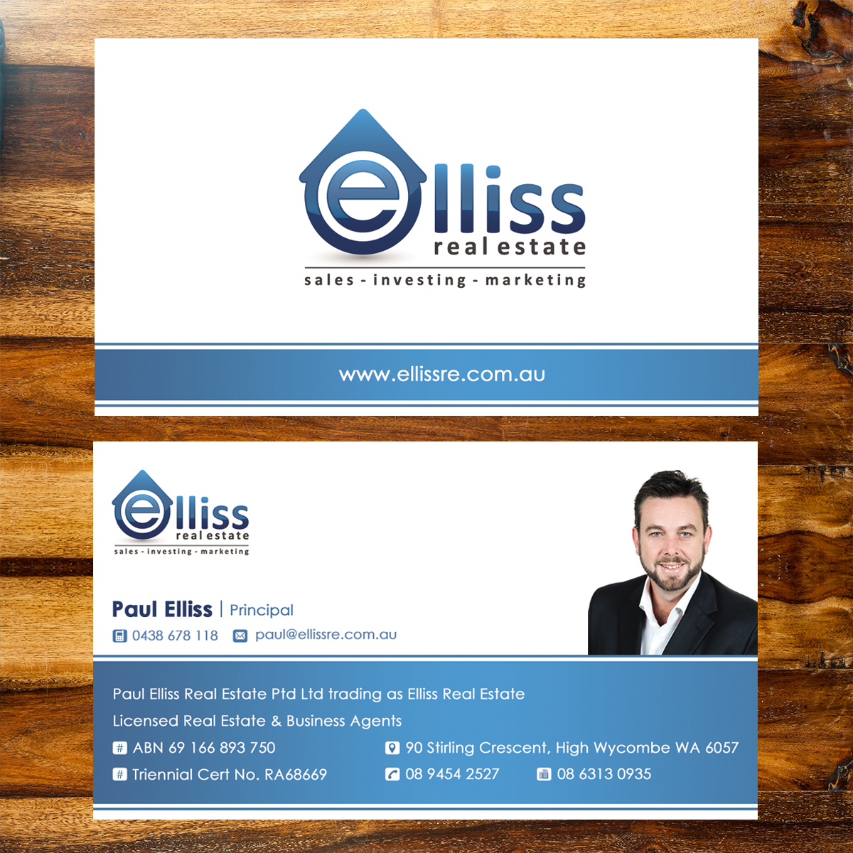 59 bold business card designs printing business card design business card design by edoers for elliss real estate design 3988146 reheart Image collections