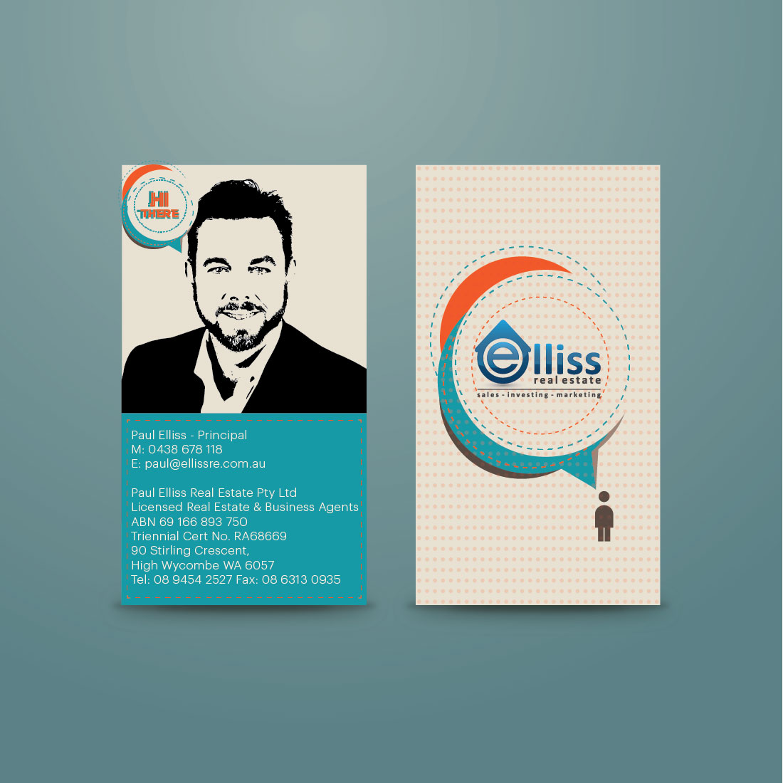 Bold masculine printing business card design for elliss real bold masculine printing business card design for elliss real estate in australia design 3993108 reheart Choice Image