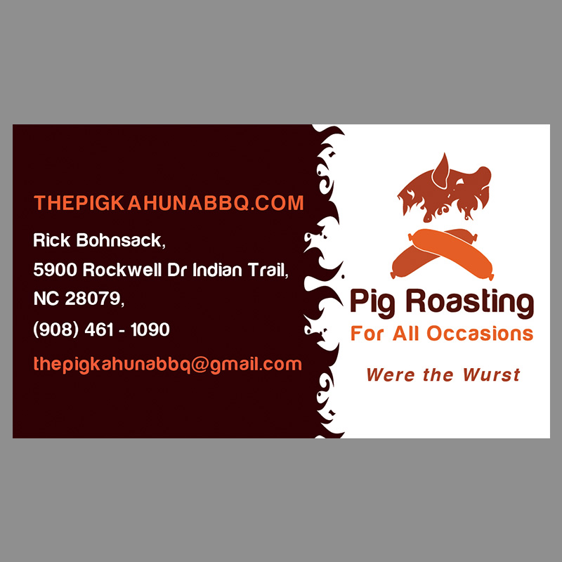Catering Business Card Design For A Company By Top Level