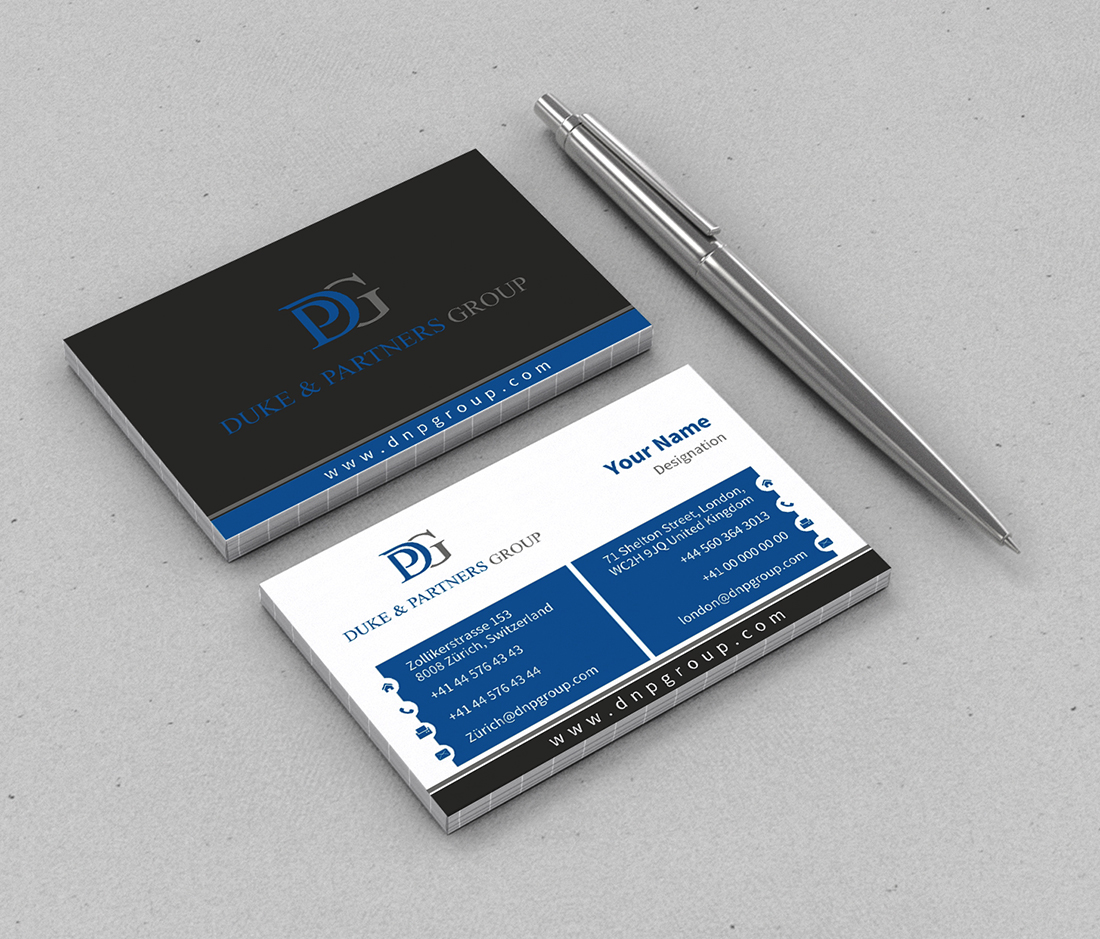 Conservative, Elegant Business Card Design for DPG Trading ...