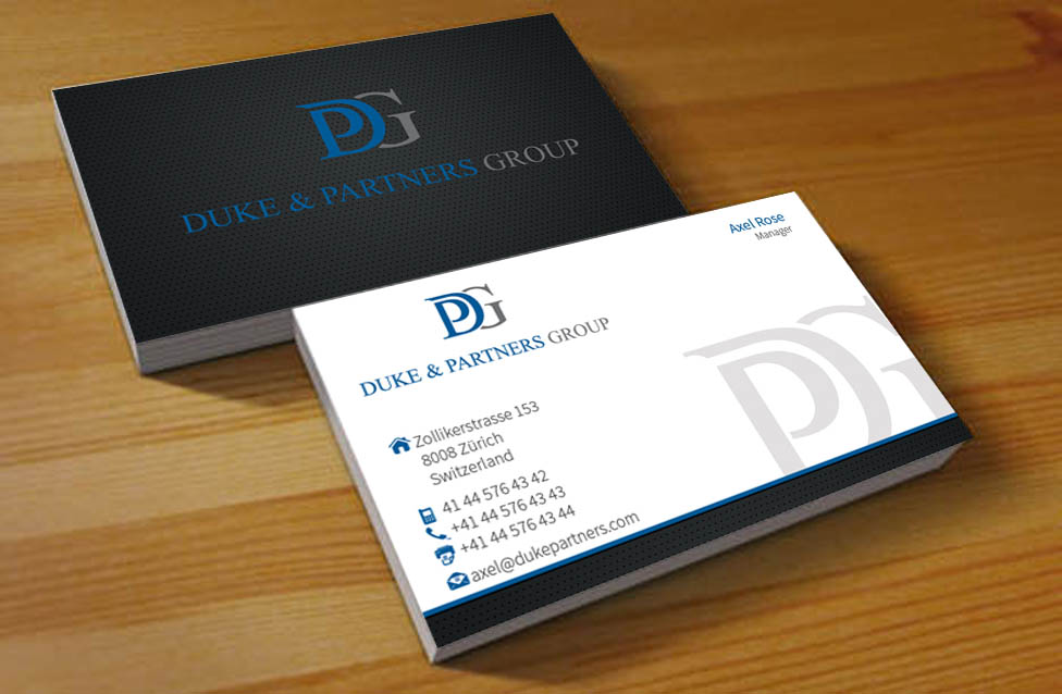 Conservative, Elegant, Business Business Card Design for DPG Trading ...