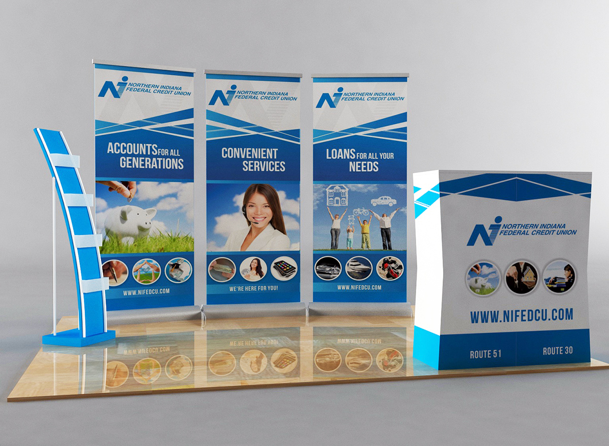Art Design For Northern Indiana Federal Credit Union By Bins