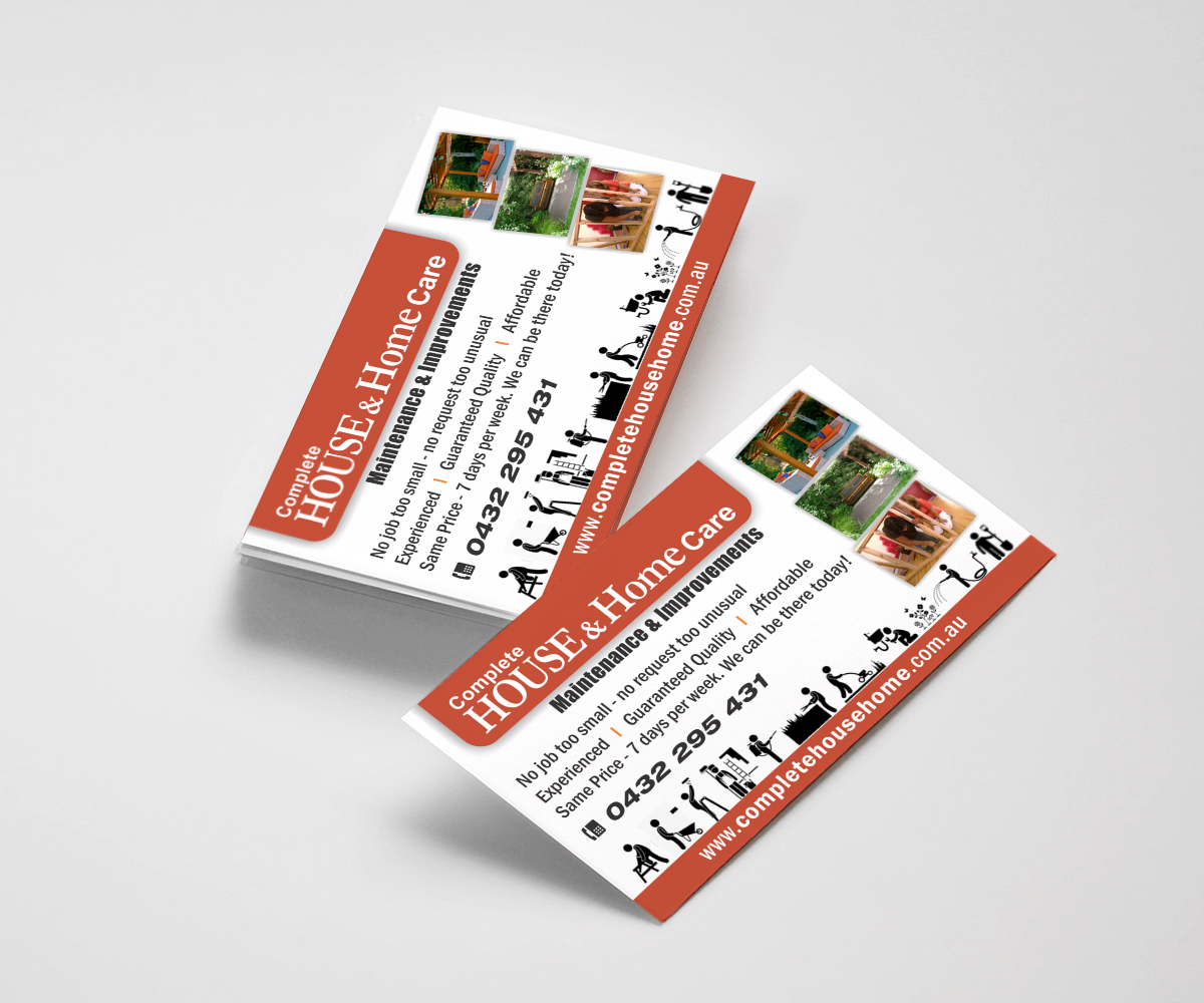 Home improvement business card design for a company by kalavritt business card design by kalavritt for this project design 3997641 colourmoves