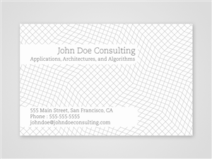 Business Card Design Contest Submission #141878