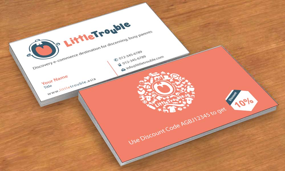 Modern elegant e commerce business card design for little trouble business card design by sbss for little trouble design 3985675 reheart Image collections