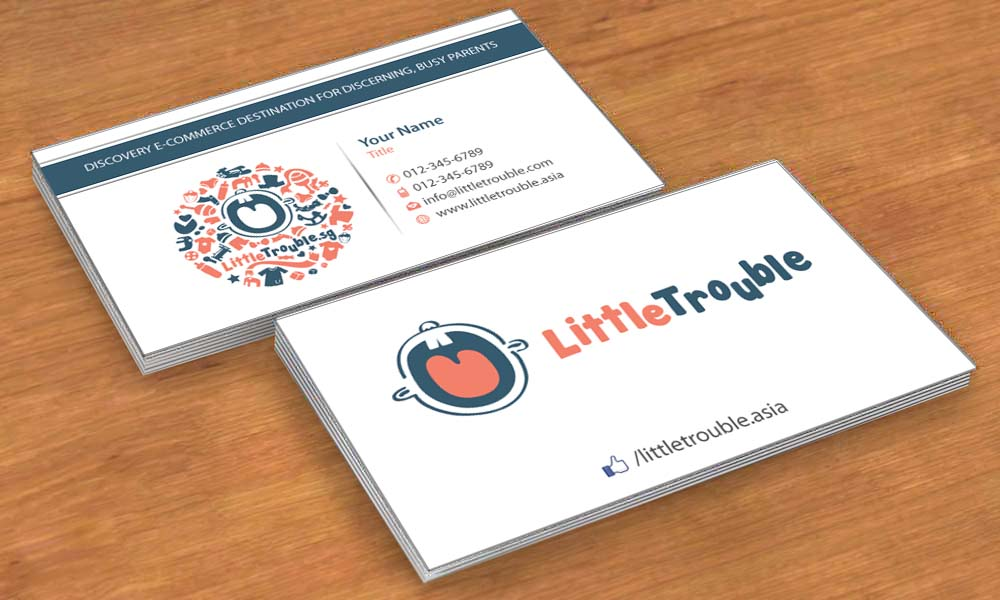 Modern elegant e commerce business card design for little trouble business card design by sbss for little trouble design 3985676 reheart Image collections