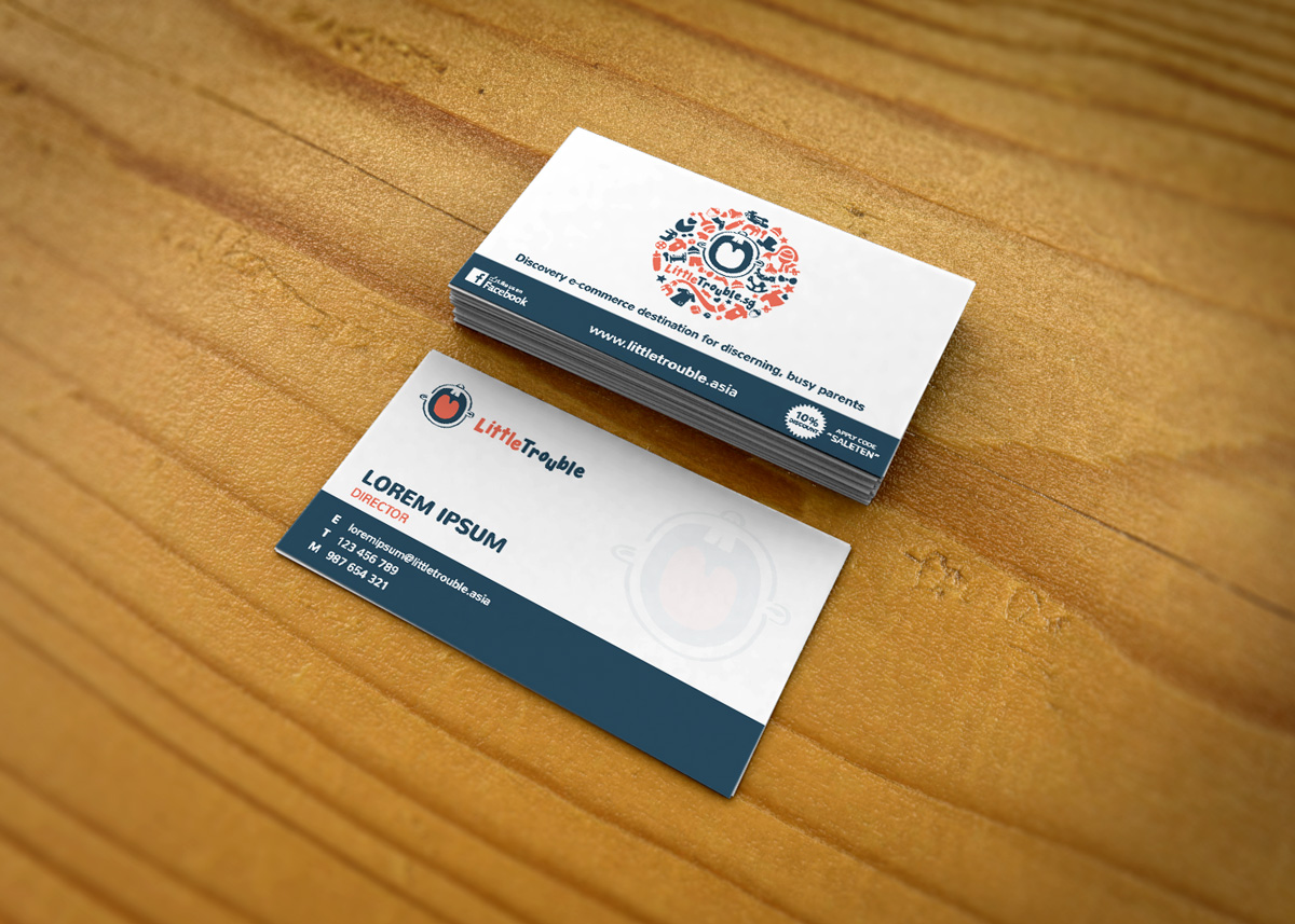 Modern elegant e commerce business card design for little trouble business card design by roy for little trouble design 3980096 reheart Image collections