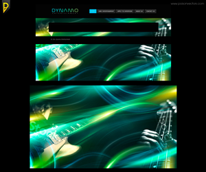 Graphic Design by poisonvectors - Website background design for music entertainme...
