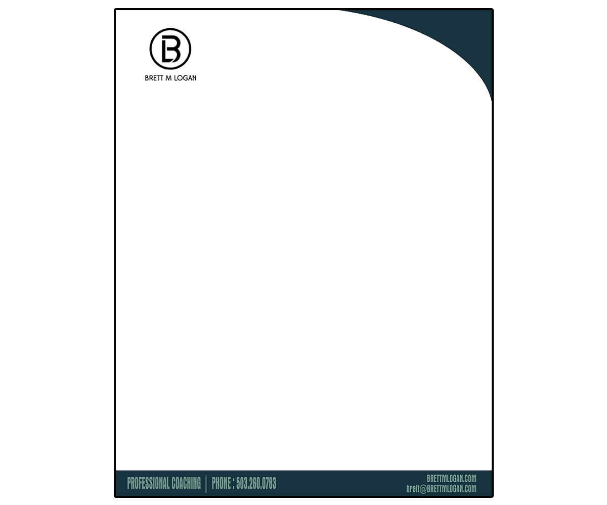 Masculine Serious Business Letterhead Design For A Company By