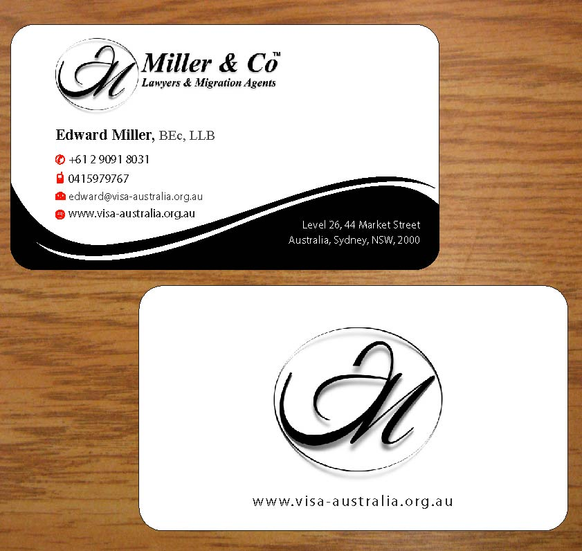 Bold, Personable, It Company Business Card Design for Miller& Co ...