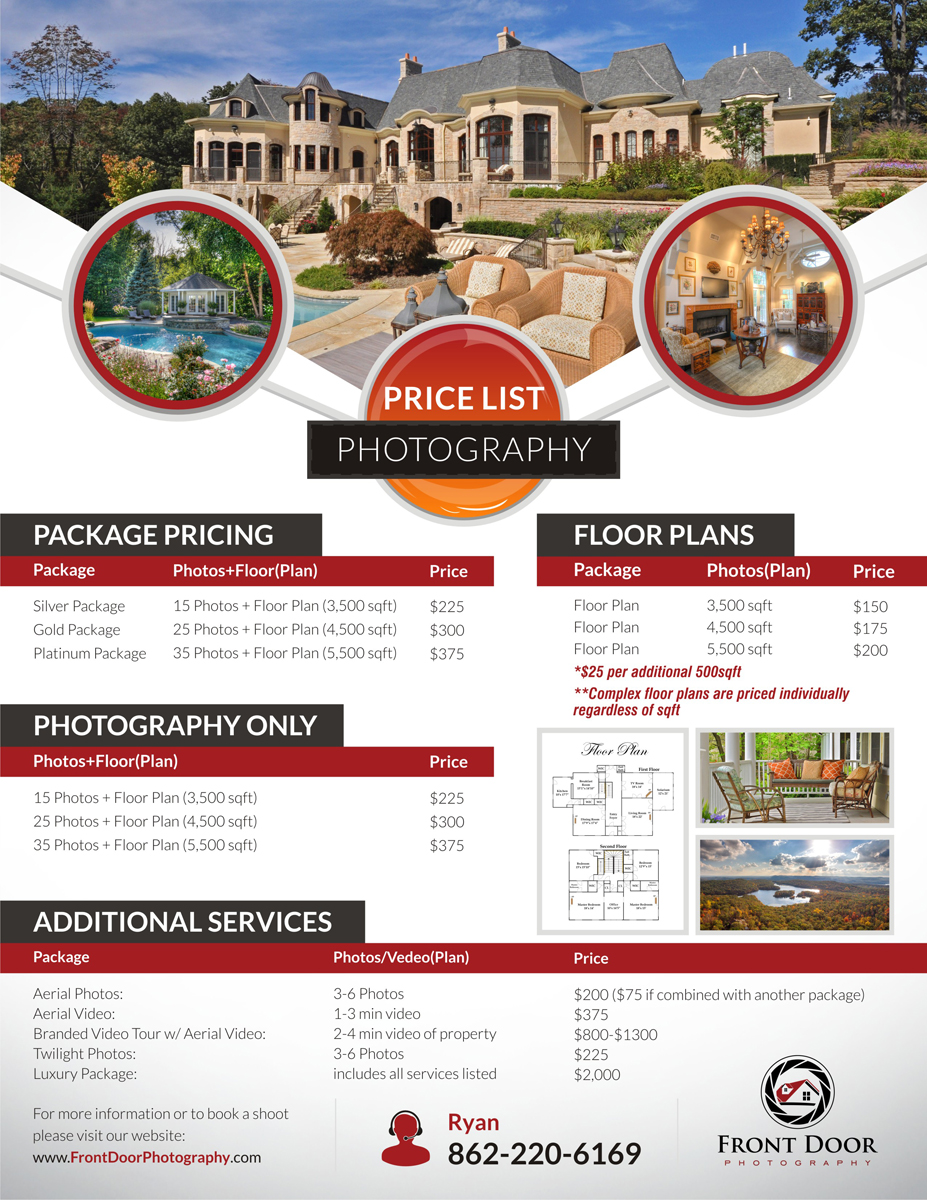 Serious, Professional Flyer Design for Front Door Photography, LLC ...