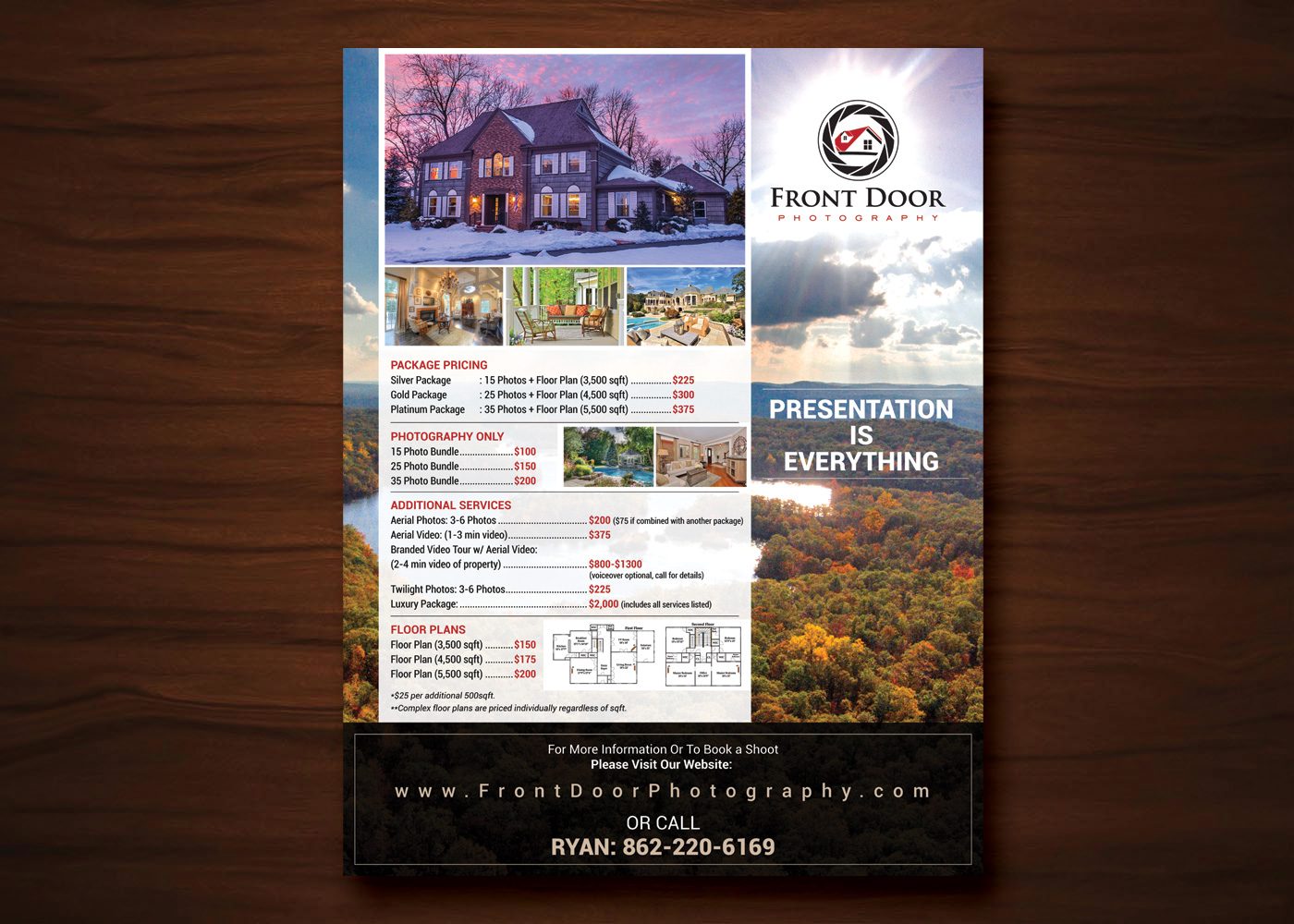 Price for a poster design - Flyer Design By Uk For Real Estate Marketing Company Needs 1 Page 8 5x11 Price List