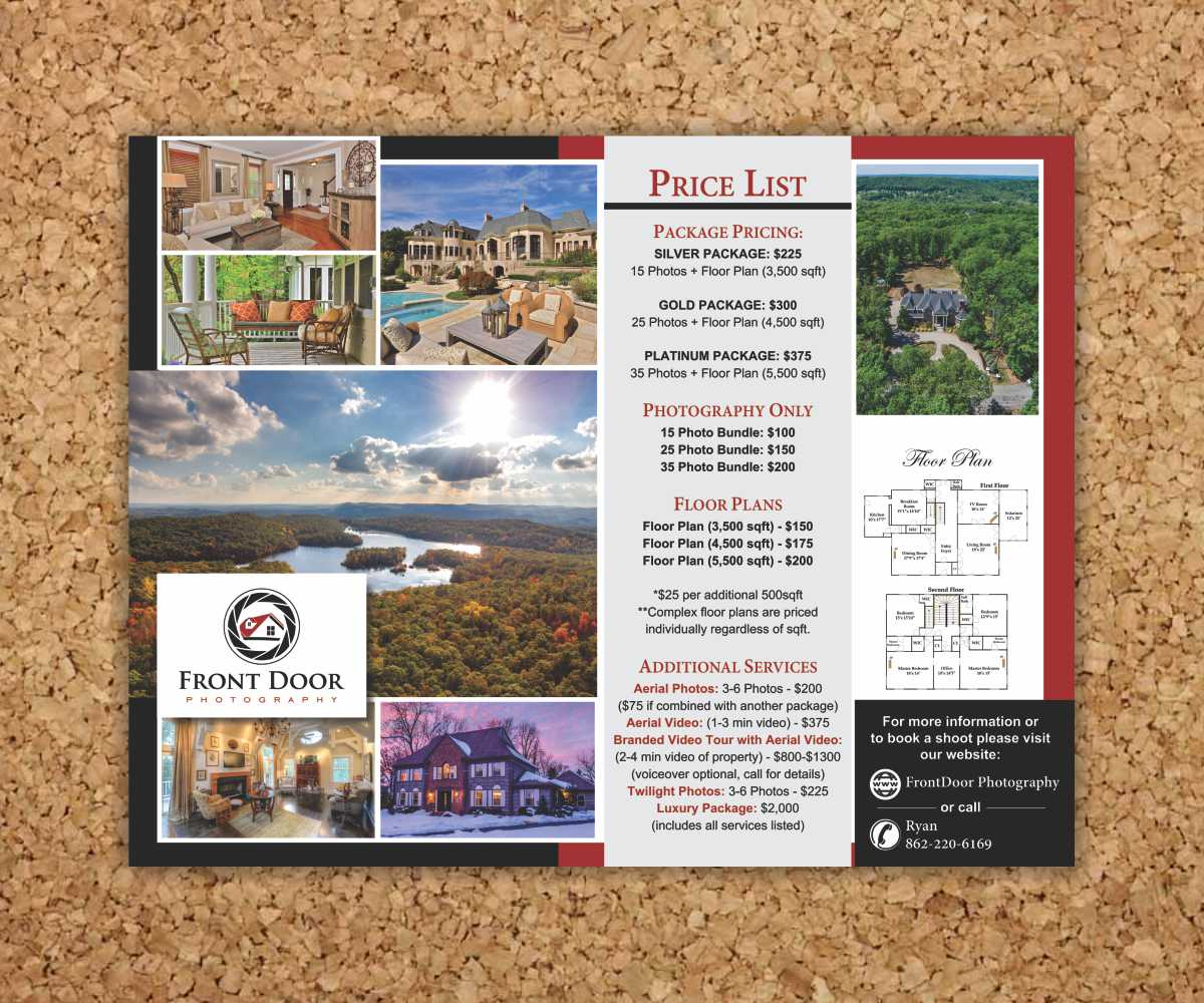 serious professional real estate flyer design for front door