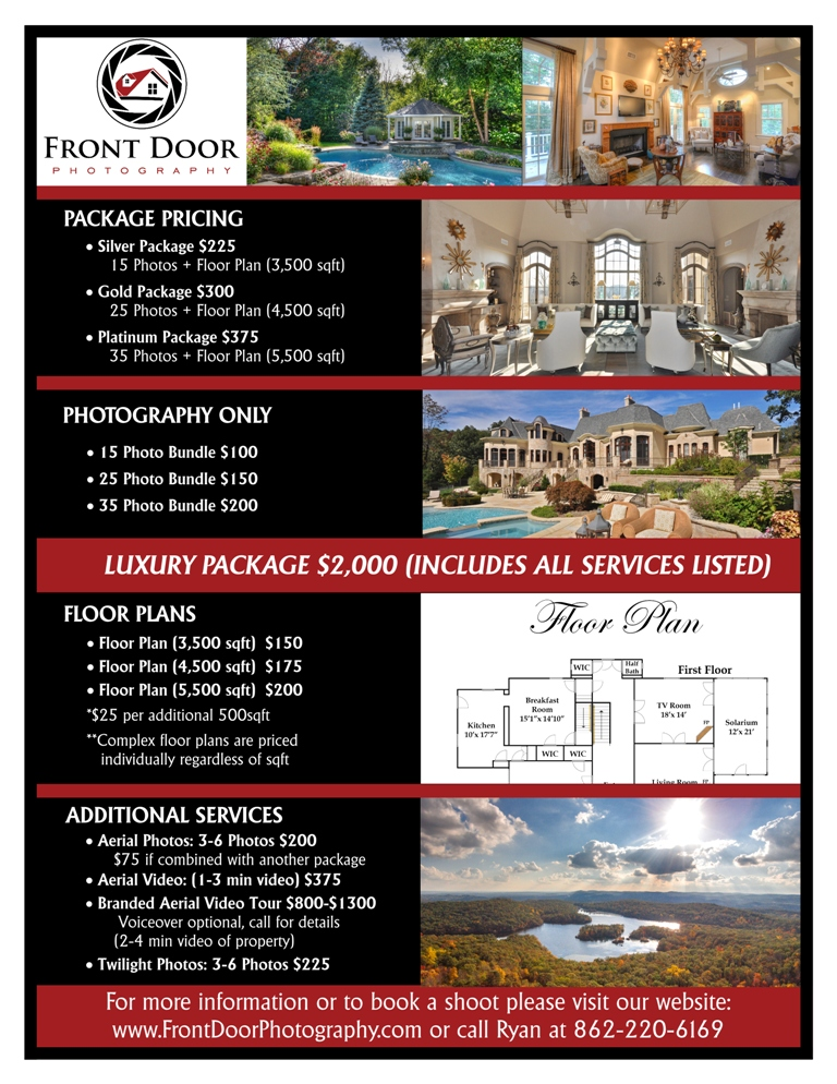 Flyer Design by NancyCecco for Front Door Photography LLC | Design #6217519  sc 1 st  DesignCrowd & Serious Professional Real Estate Flyer Design for Front Door ...