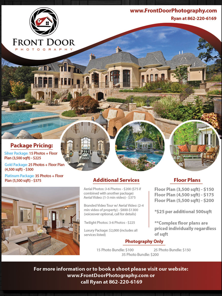 door hanger design real estate. Real Estate Photographer Flyer Door Hanger Design C