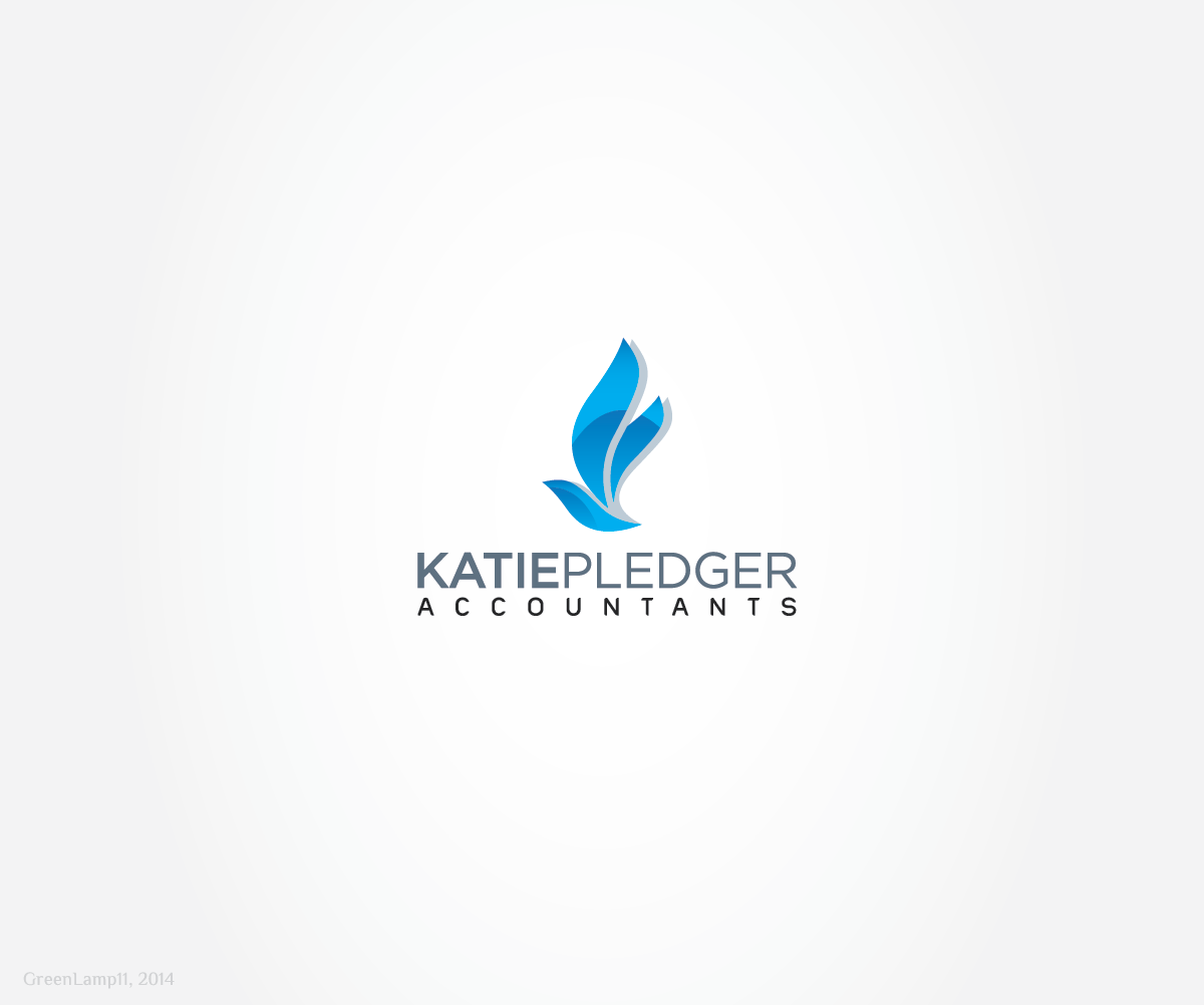 Modern professional logo design for katie pledger by for Firm company