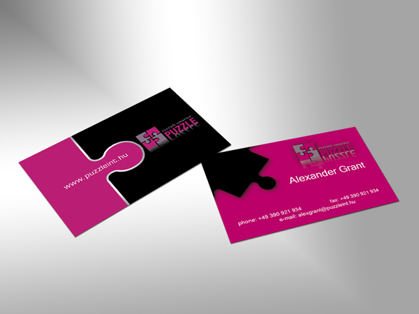 Puzzle piece business cards oxynux elegant serious business card design for a company by colourmoves