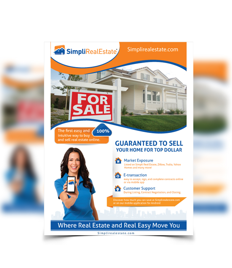 real estate flyer design for a company by nyky design 4006865