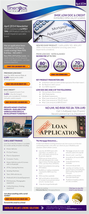 Newsletter Design by Theziners - Newsletter template for Mortgage Broking business