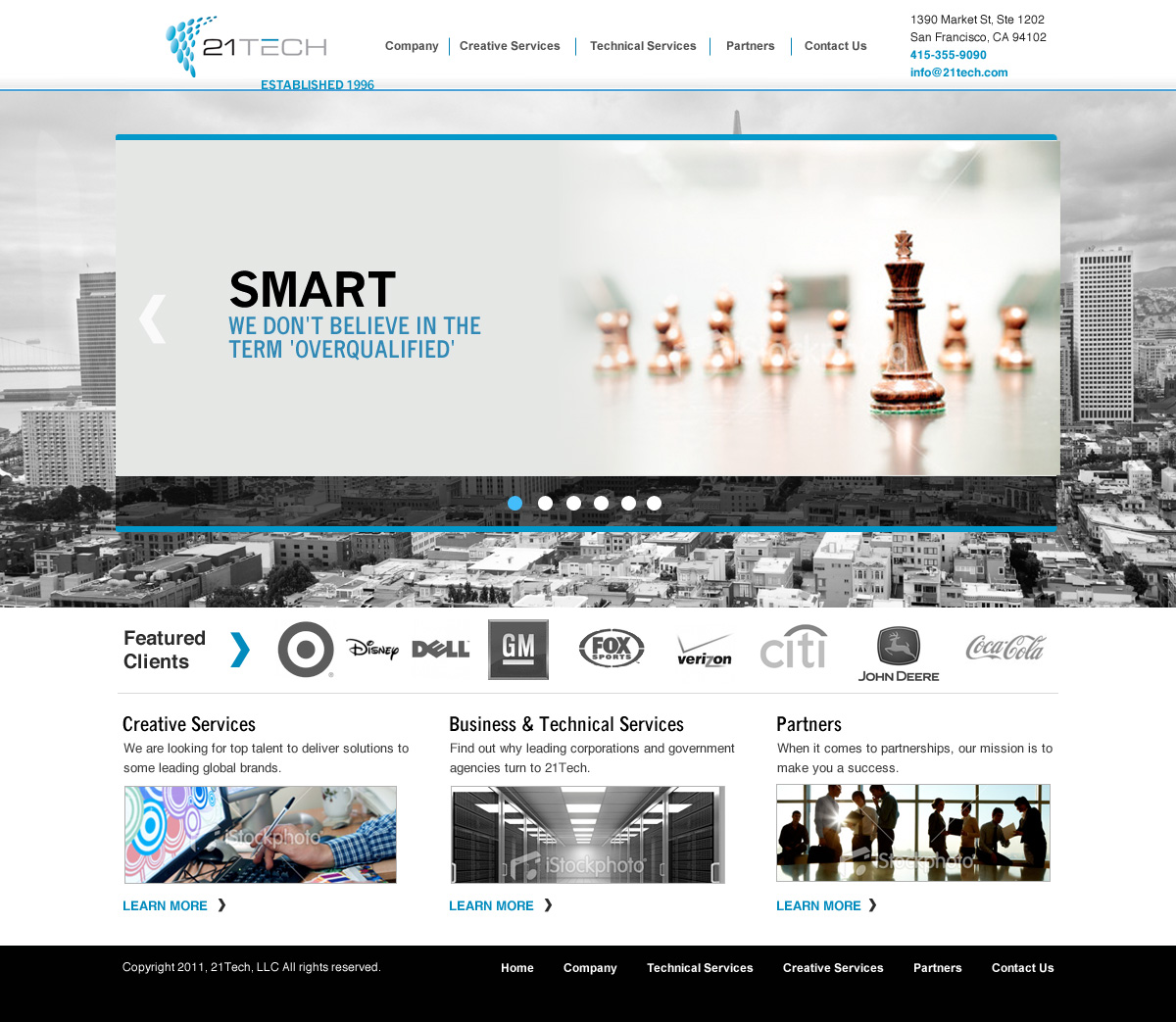 Web Design By Fielding Ideas For San Francisco Leading Consulting Firm    21Tech Web Design Project